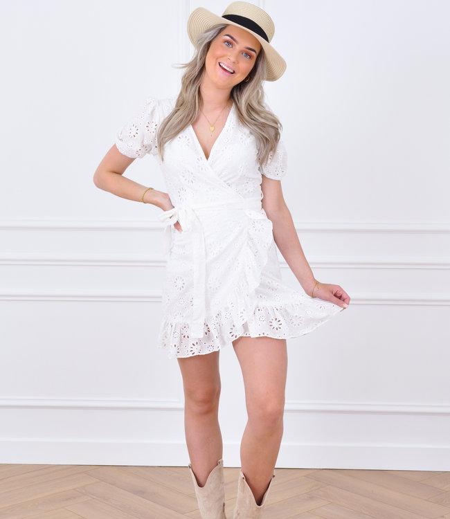 Fiona dress white