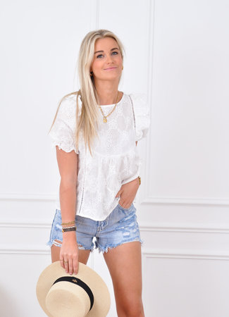 Mae blouse white