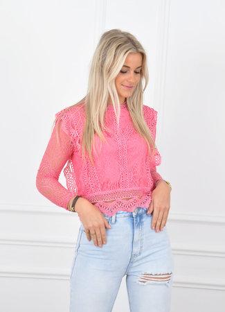 Poppy top pink