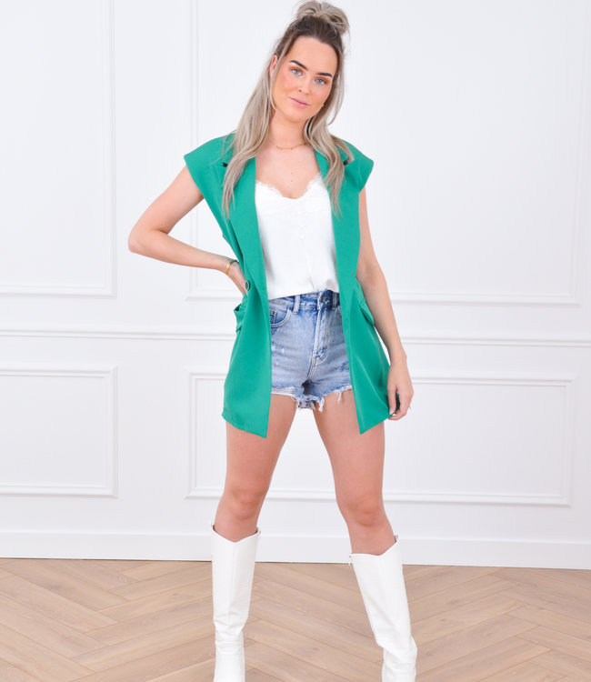 Lilly gilet green