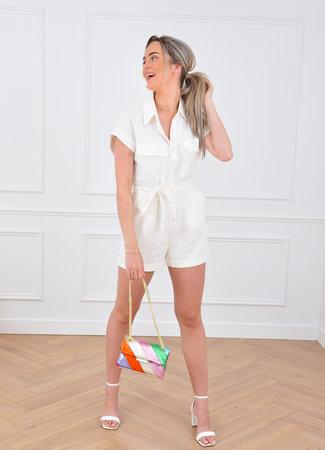 Serena playsuit white