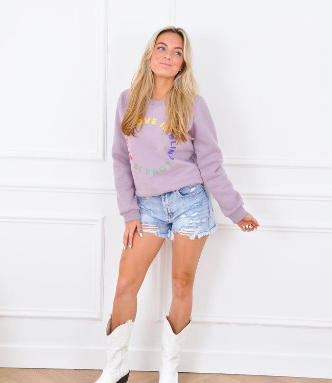 Anna sweater lila