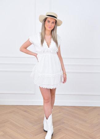 Selin dress white