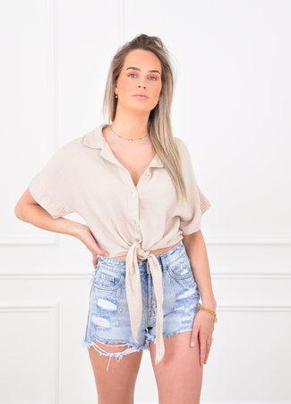 Louna blouse beige