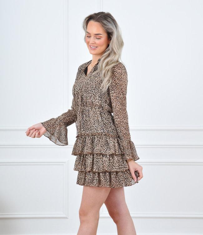 Britt dress brown