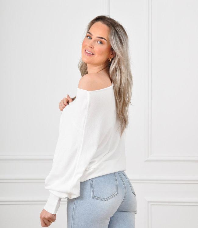 Xan knit white