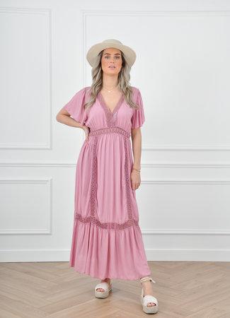 Daisie maxi dress pink
