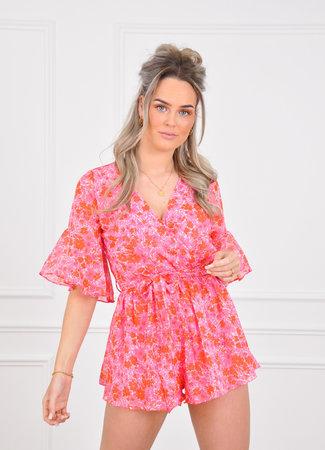 Veronique playsuit pink