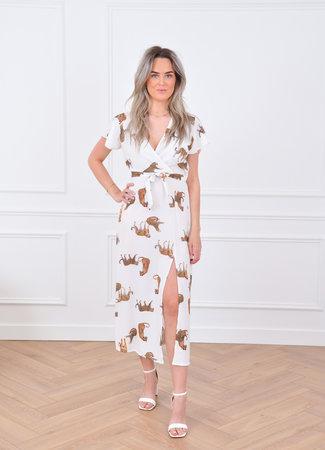 Goa maxi dress tiger white