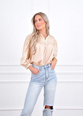 Evy blouse beige