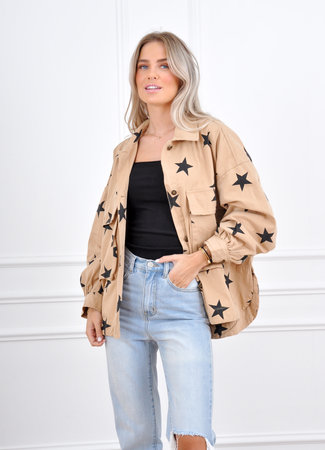 Star blouse beige