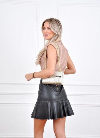 Hailey leather skirt black