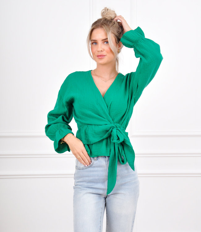 Anouk top green