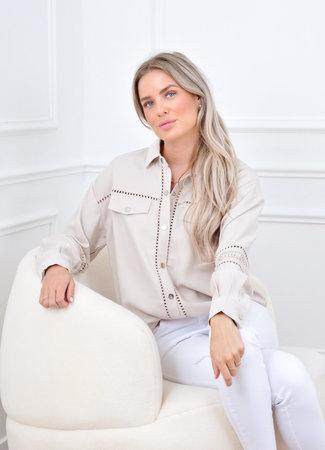 Sophia blouse beige