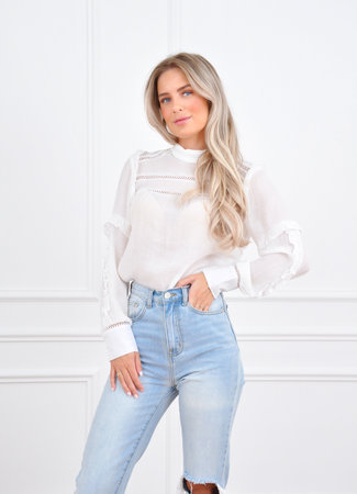 Carmen blouse white
