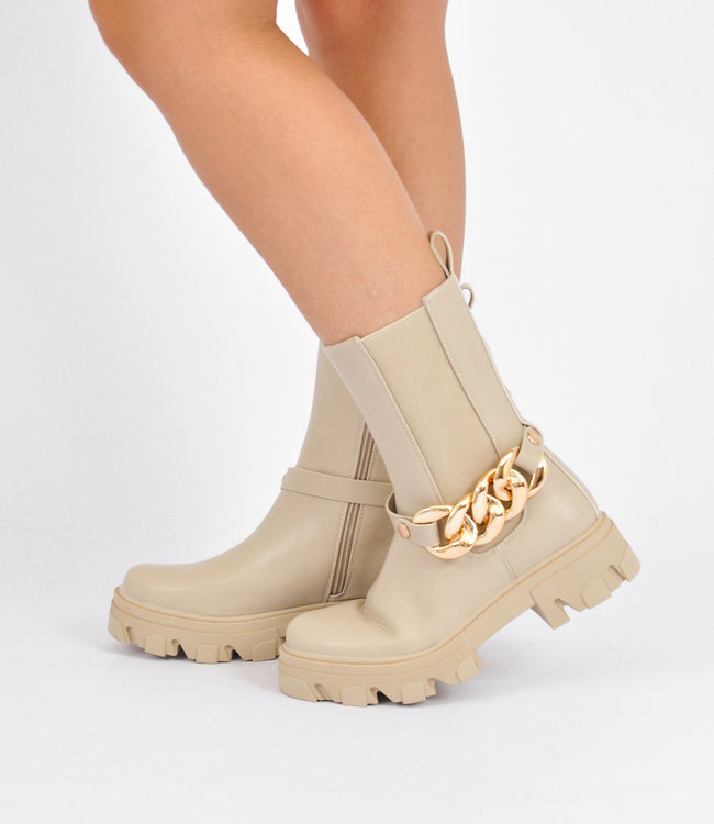 Indy boots beige