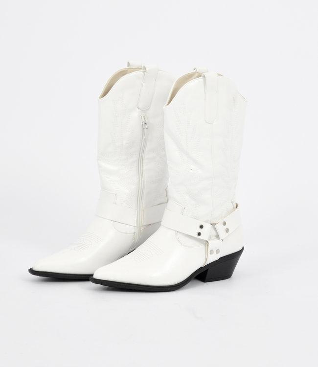 Megan boots white