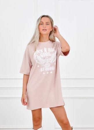 Saar t-shirt dress pink