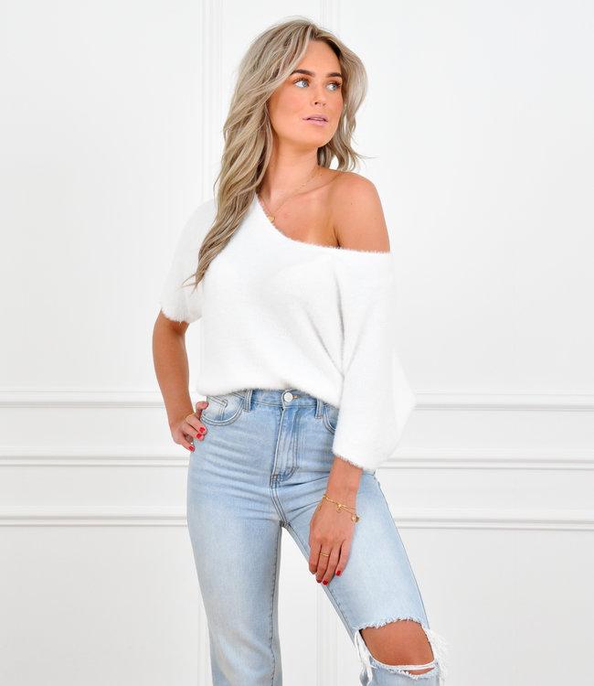 Brooke knit white