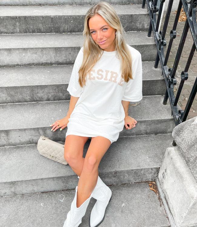 Desire dress white