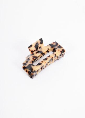 Haarclip leopard