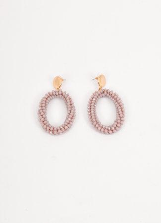 Crystal earrings lila