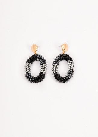 Crystal earrings black