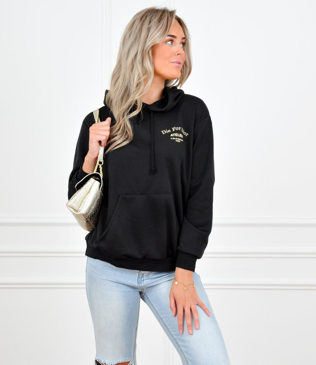 Adore hoodie black