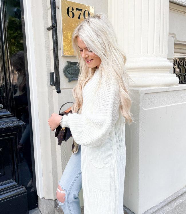 Femke vest white