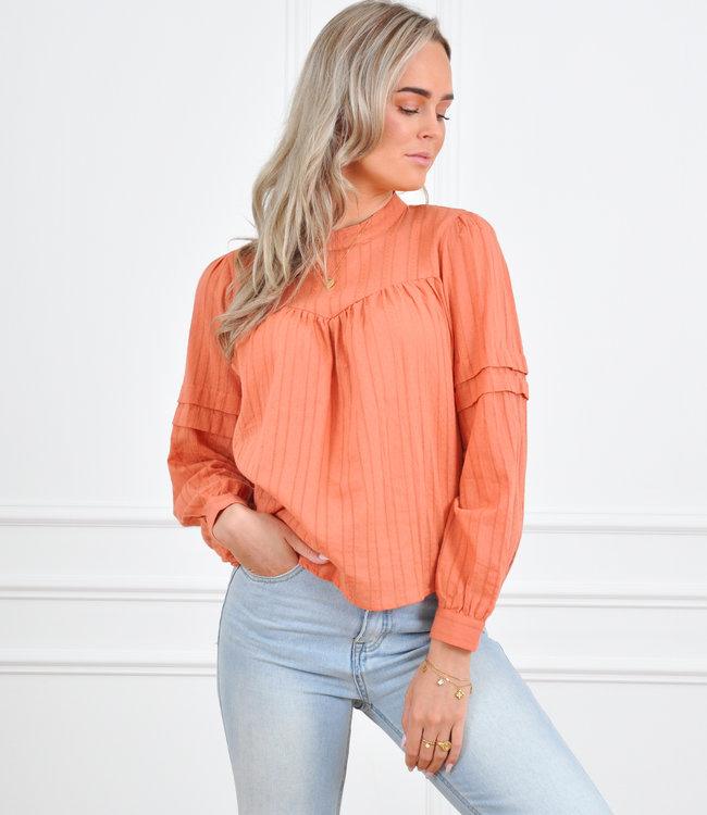 Caro blouse coral