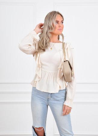 Yasmine blouse beige