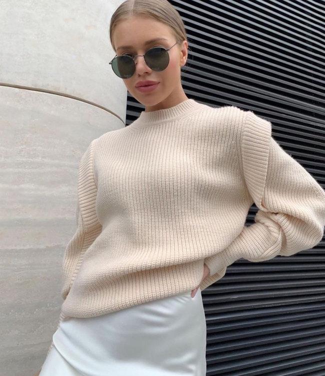 Rozan knit beige