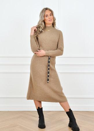 Carlijn knit dress taupe