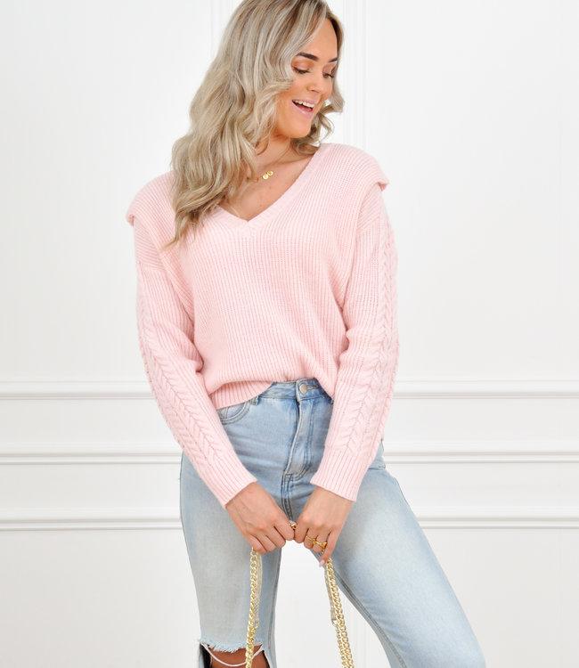 Romie knit light pink