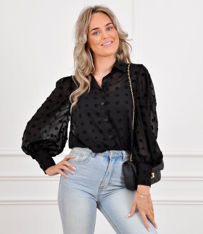 Ivy blouse black