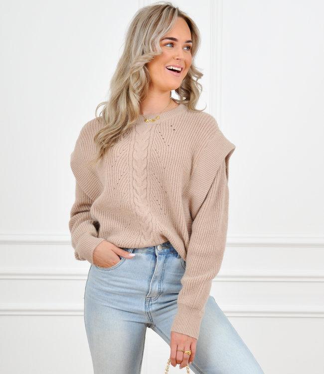 Olivia knit taupe