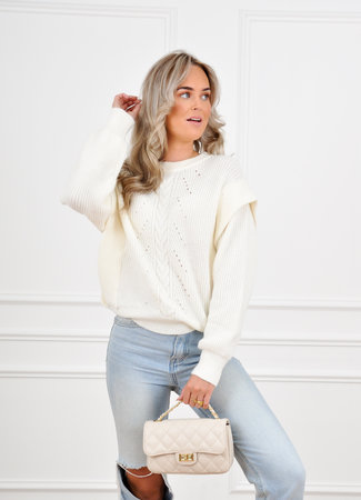 Olivia knit creme