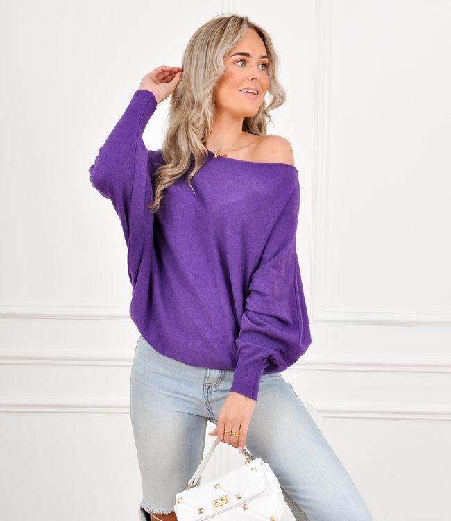Sofie knit purple