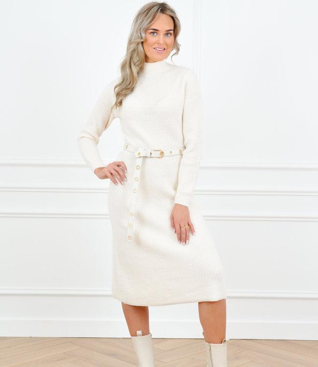 Carlijn knit dress creme
