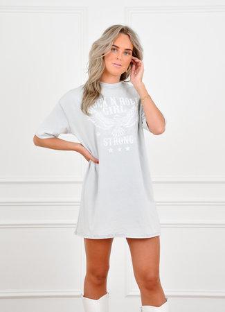 Saar t-shirt dress light grey