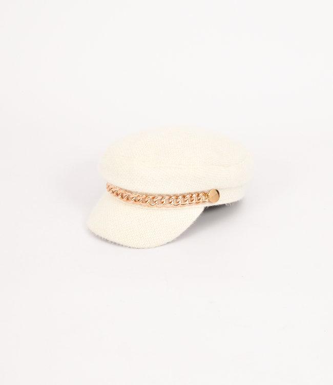 Nina cap white