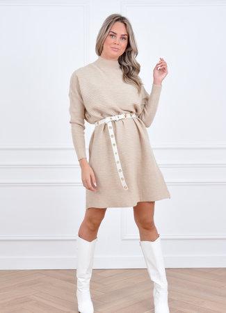 Yara knit dress beige