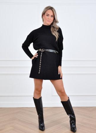 Yara knit dress black