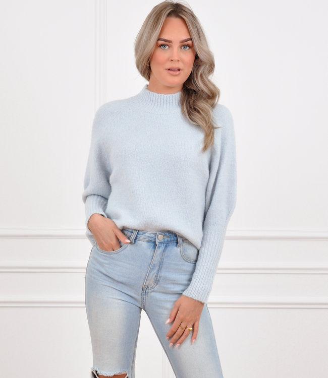 Kim knit light blue