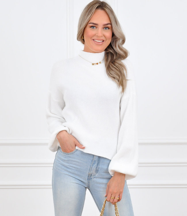 Mosey sweater white