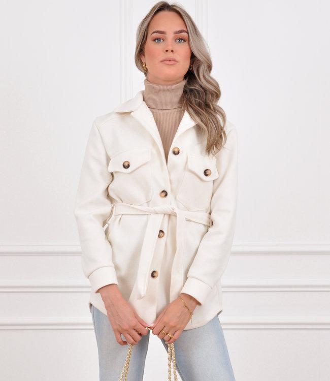 Rosa jacket white
