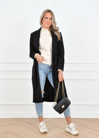 Milou coat black