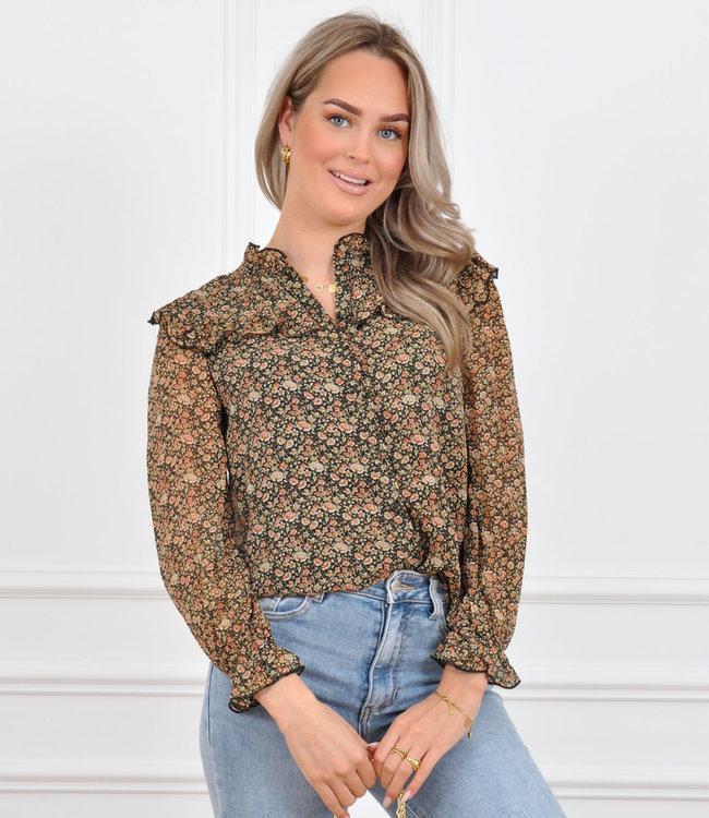 Essie blouse coral
