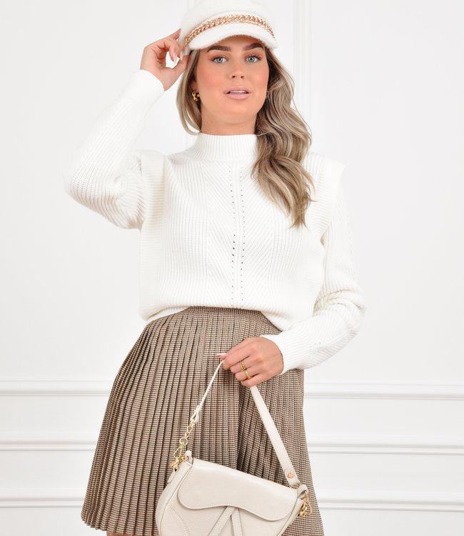 Zaar knit white