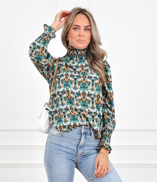 Liva blouse green